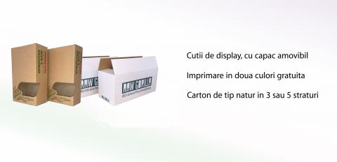 Cutii display din carton albit